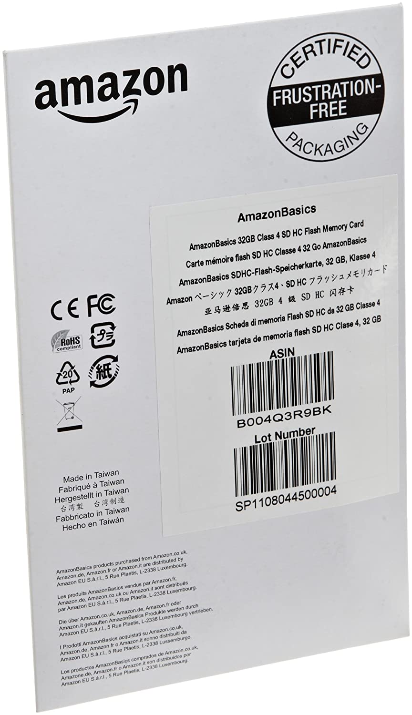 Amazon.com: AmazonBasics SDHC Class 4 32GB Secure Digital ...