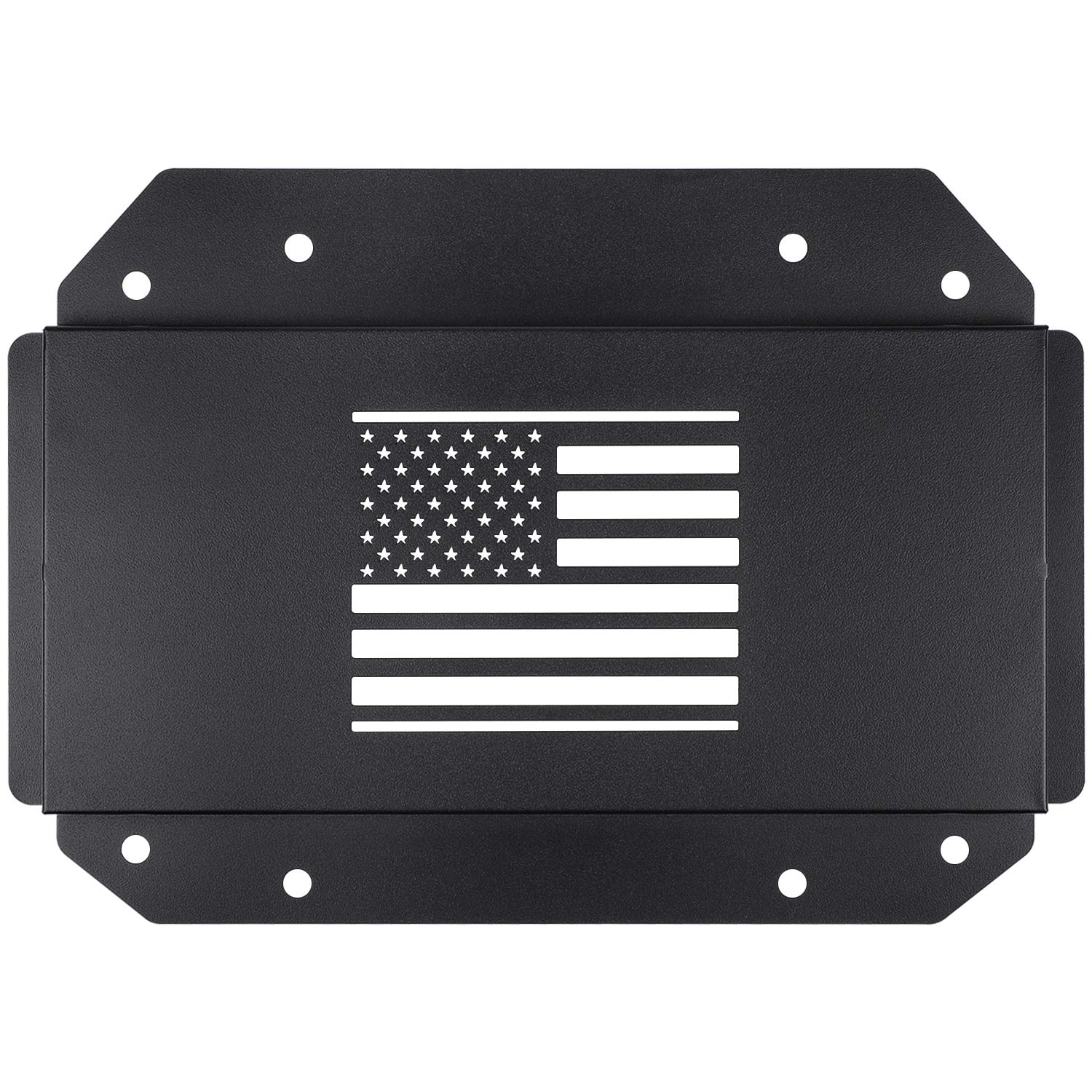 Danti Jeep Wrangler Tailgate Vent-Plate Cover for 2018 2019 Jeep Wrangler JL Spare tire Tramp Stamp tire Carrier Delete mild Steel Trim with US Flag wen wen top