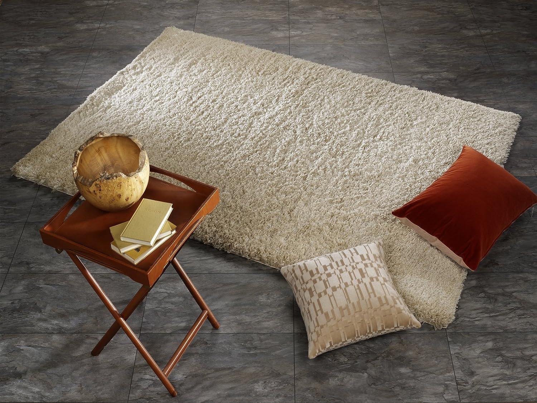 SOFTGROUND SHAGGY weicher kuscheliger Hochflor Langflor Teppich in beige, Größe  65x130 cm