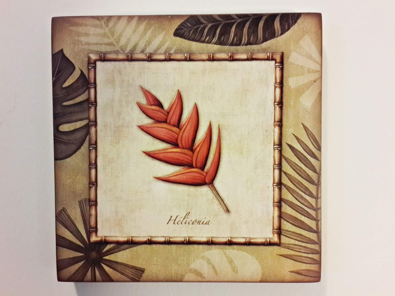 Amazon.com: Leaf and Flower Themes Handmade Wood Wall Art ...