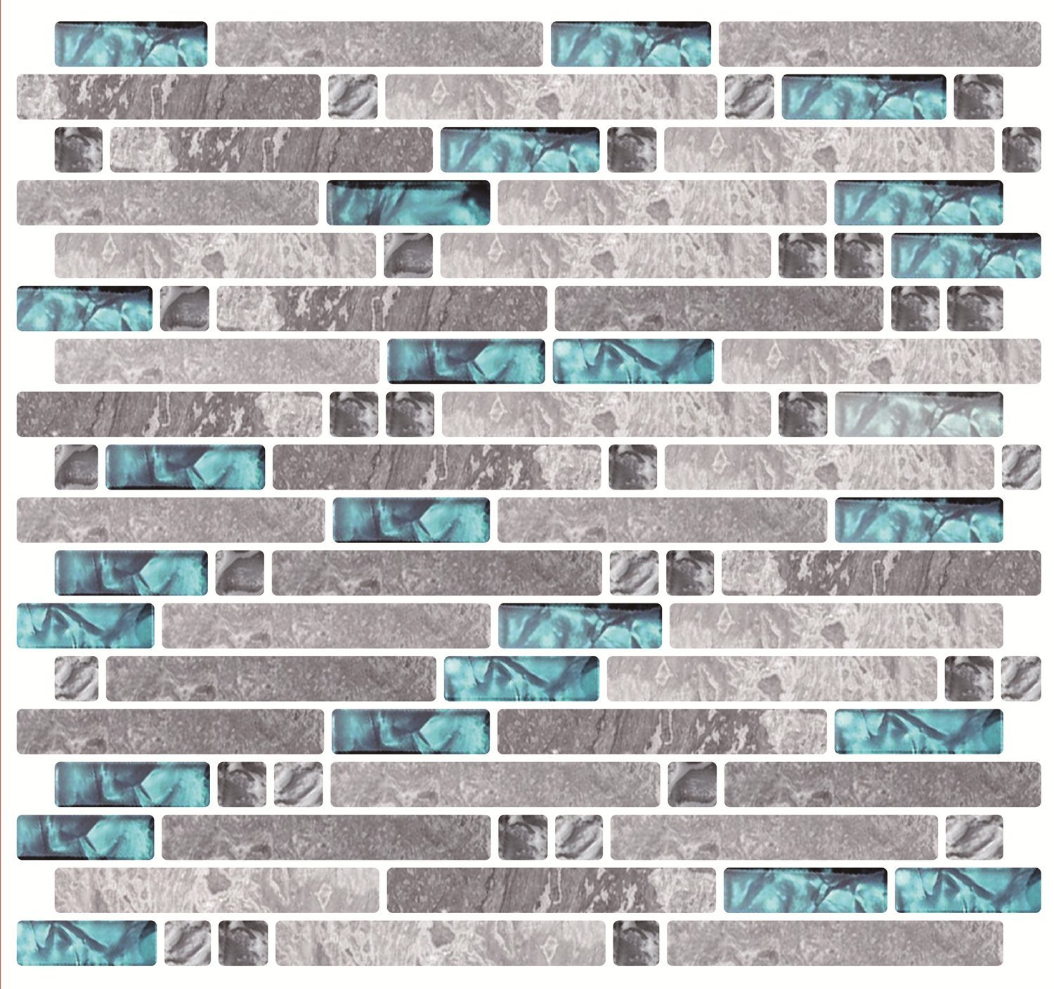 Cocotik 10.5''x10'' Anti-Mold Peel and Stick 3D Wall Tile - Pack of 6
