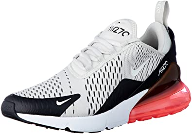 NIKE Men's Air Max 270, Black/Light Bone-HOT Punch, ...