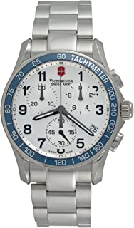 Victorinox Swiss Army Mens Chrono Classic Quartz Metal and Stainless Steel Sport Watch,