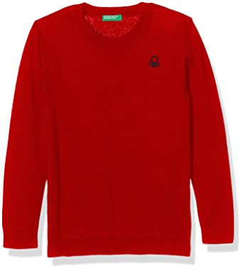 United Colors of Benetton Sweater Long Sleeve, Sudadera para Niños, Rojo (Red 07c