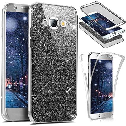 san francisco 3af24 e083a PHEZEN for Samsung Galaxy Core Prime Case,Galaxy Core Prime Glitter Case,  Front and Back 360 Full Body Protective Bling Glitter Sparkly Slim Thin TPU  ...