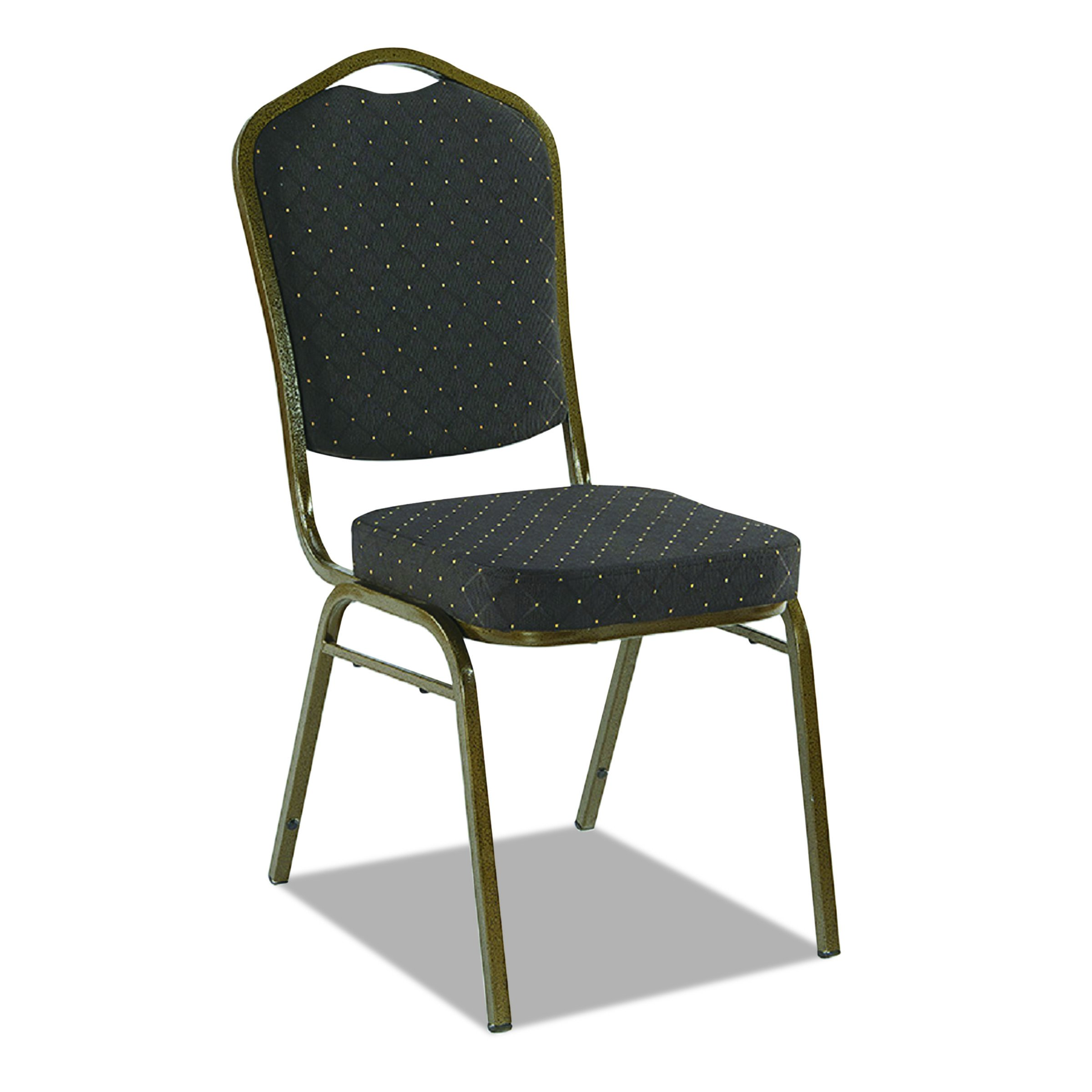 Iceberg 66123 Banquet Chair, 4-Pack, Crown, Black Pattern/Gold Vein Frame (Made in USA)