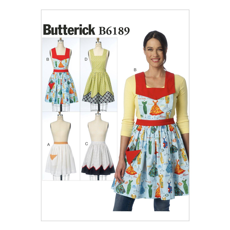 Butterick Patterns 6189 OSZ Patrones de Costura para Delantales ...