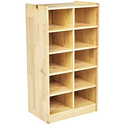 Basics Wooden 10-Section Vertical Storage Organizer: Industrial & Scientific