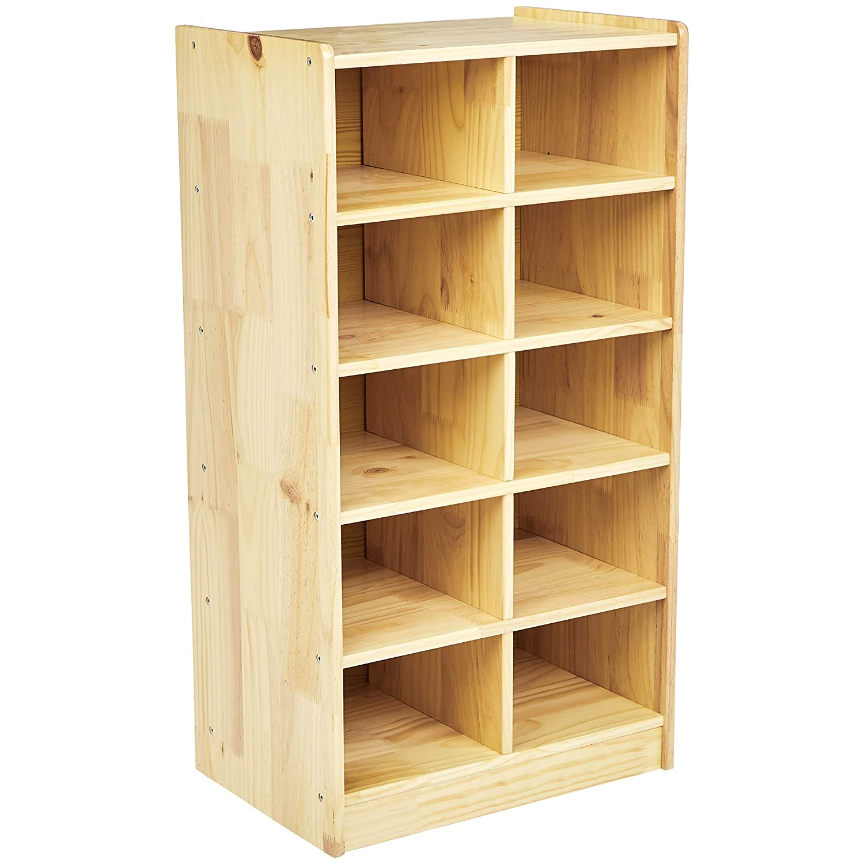 AmazonBasics Wooden 10 Section Vertical Storage Organizer