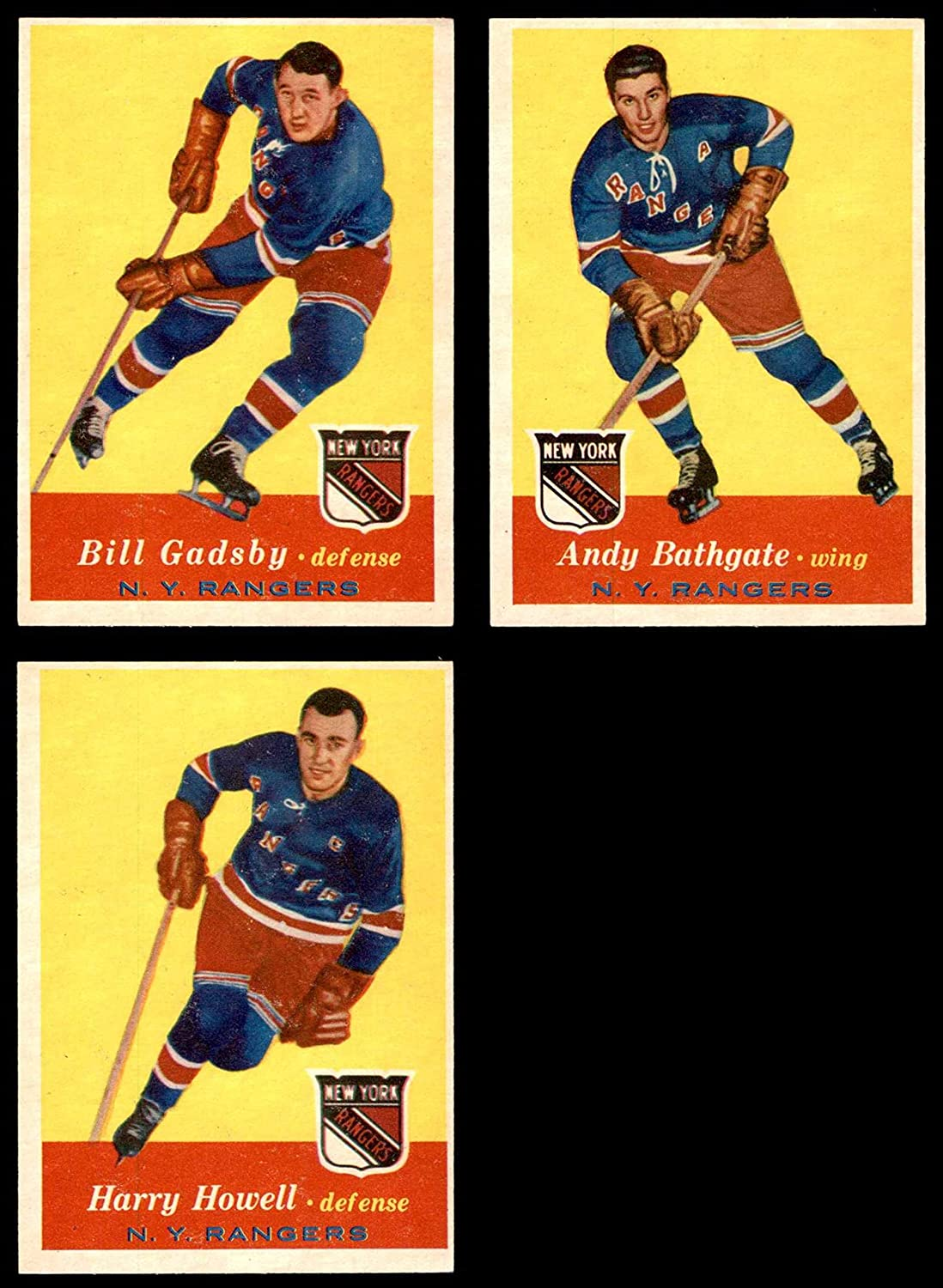 1957-58 Topps New York Rangers Near Team Set New York Rangers - Hockey (Baseball Set) Dean's Cards 6 - EX/MT Rangers - Hockey