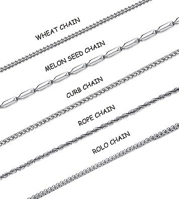 Amazon.com: Hanpabum - Juego de 5 cadenas de acero ...