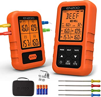 ENZOO 500FT 500 Feet Wireless Meat Thermometer