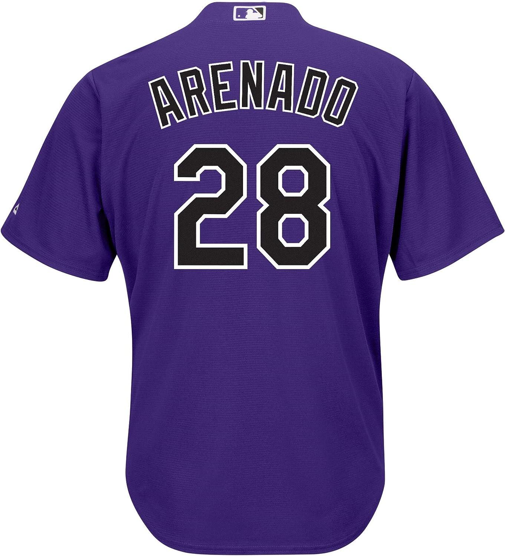 Nolan Arenado Colorado Rockies Purple Youth Cool Base Alternate Replica Jersey