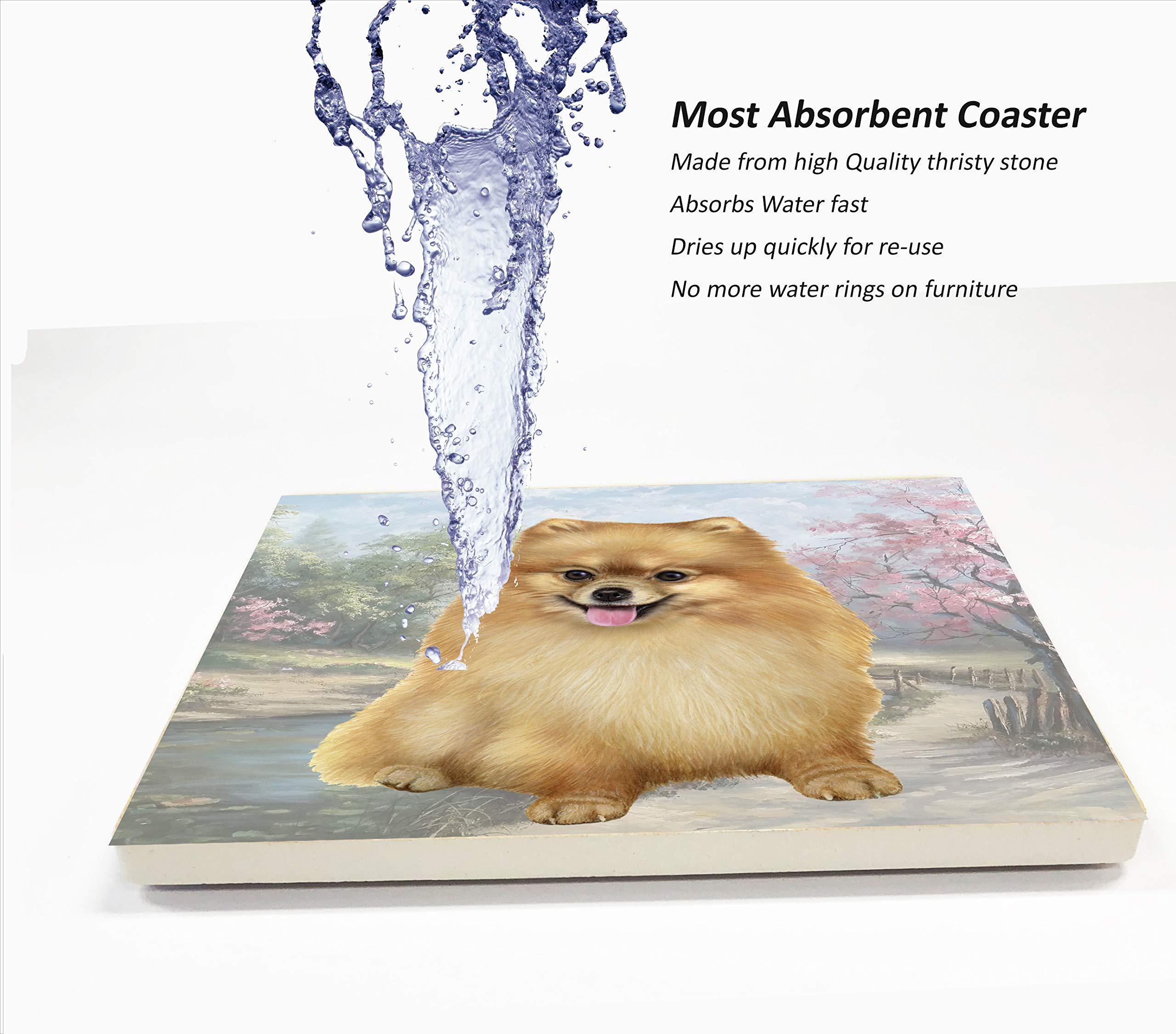 Pomeranian Tabletop Drink Coaster (1) 3
