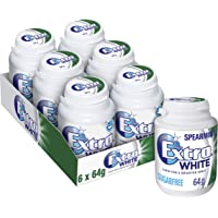 EXTRA White Spearmint Chewing Gum Bottle 64g, 6 x 64 g