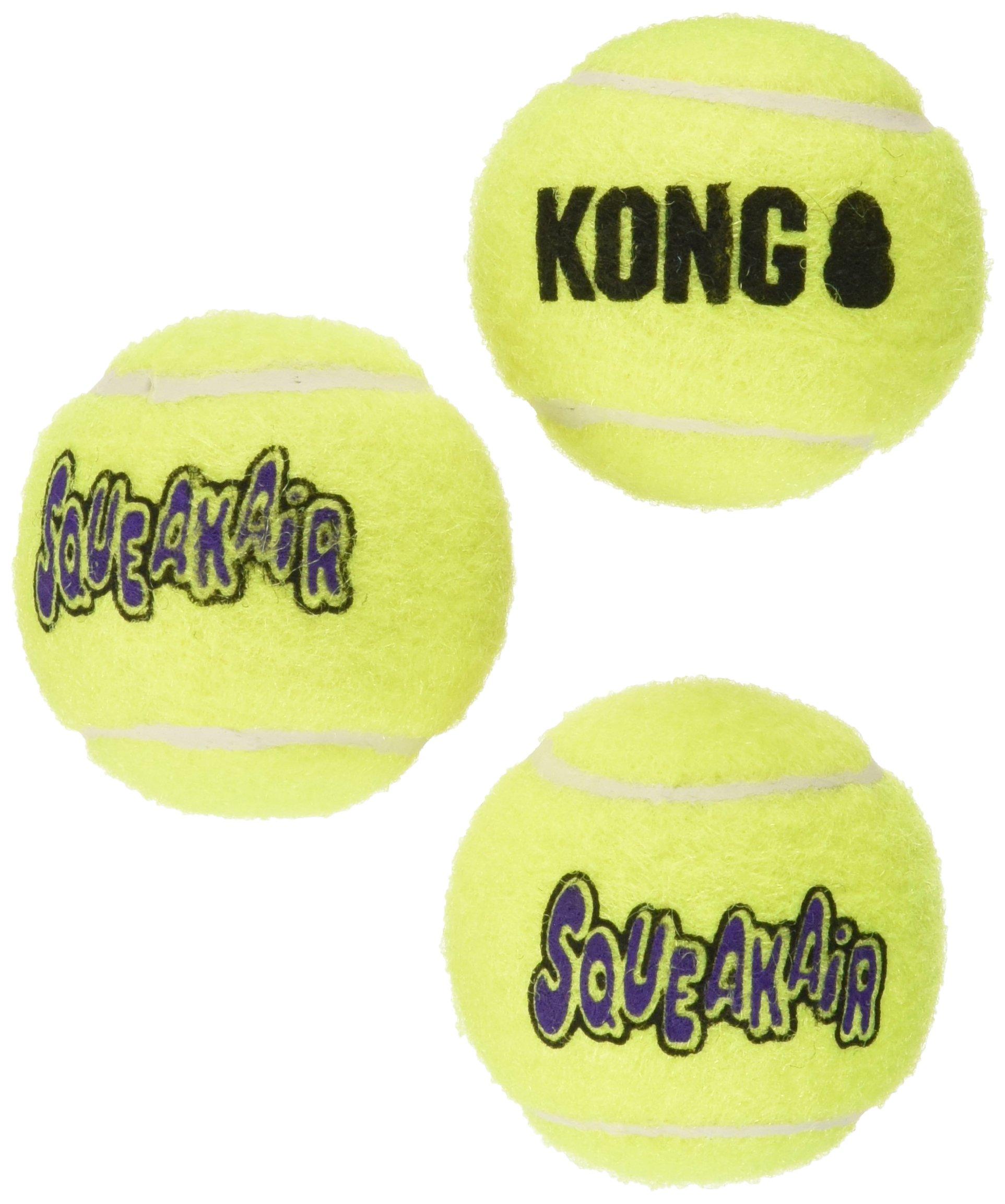 KONG3 Piece Air Squeaker Tennis Balls (3 Pack), Small 9 Balls
