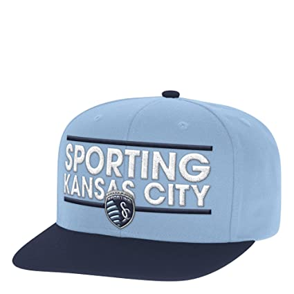 low priced 29c10 b3616 Image Unavailable. Image not available for. Color  adidas MLS Sporting  Kansas City Men s Dassler Flat Brim Snapback Hat ...