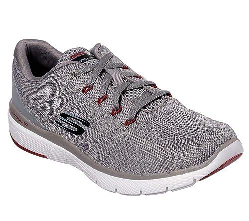 Skechers Flex Advantage 3.0 Stally Mens Sneakers CharcoalRed 12