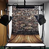 KING DO WAY 1*1.5m Brick Wooden Wall Vinyl Photography Backdrop Studio Props Photo Background 3x5ft
