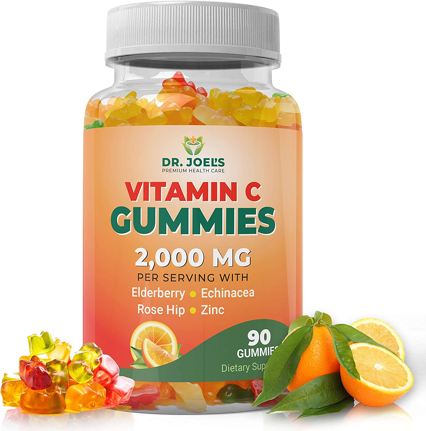 DR JOELS Vitamin C Gummies 2000 MG, Supports Immune System - Made in The USA