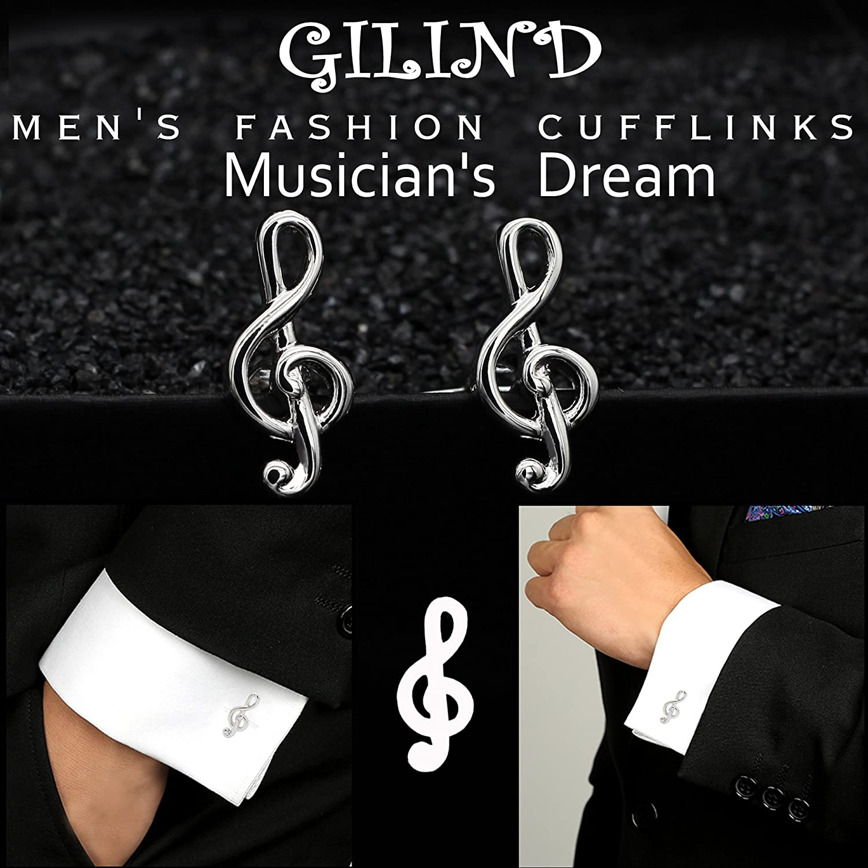 Musik Hinweis Manschettenknopf Herren Manschettenknöpfe Geschenke Herren WCY