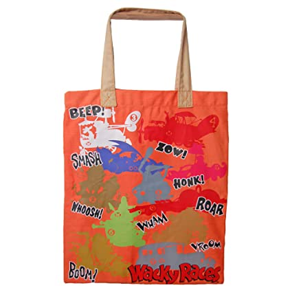 Wacky Races Bag. Collage Tote Shopper Bag