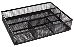 EasyPAG Mesh Collection Desk Drawer Organizer Accessories Tray,Black
