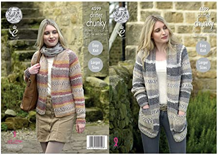 d3fa1f44b Image Unavailable. Image not available for. Colour  King Cole Ladies Chunky  Knitting Pattern - Easy Knit ...