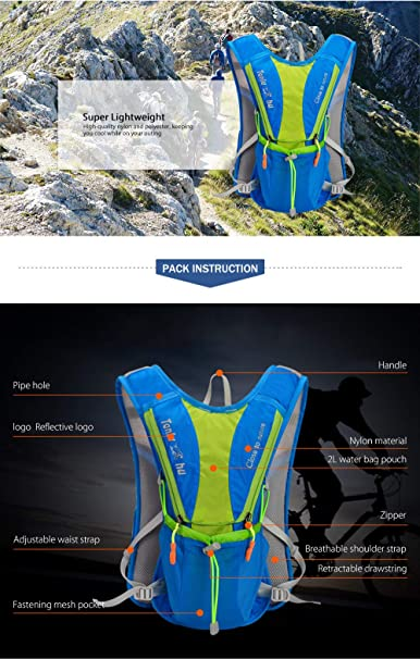 Amazon.com : Tanluhu 675 10L Outdoor Backpack Hydration Pack Lightweight Vest Bag for Running Riding Cycling Hiking Climbing (Black) : Sports & Outdoors