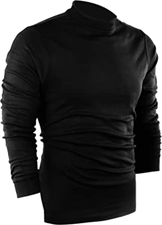 Utopia Wear Men's Casual Regular Fit Mockneck Pullover Sweater Knitted Long Sleeve T-Shirt