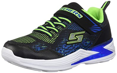 4402d63745452a Image Unavailable. Image not available for. Color  Skechers Kids Boys  Erupters  III-DERLO Sneaker Black Blue Lime ...