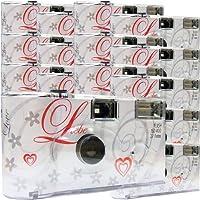 15x PHOTO PORST Hochzeitskamera/Einwegkamera/Partykamera (27 Fotos, Blitz, 15-er Pack)