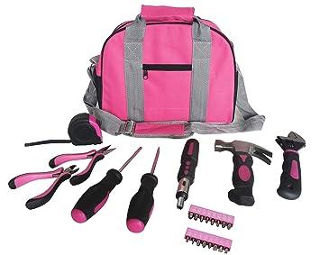 Rosa Tool Kit Werkzeugtasche Diy Set Beinhaltet Rosa Hammer Rosa