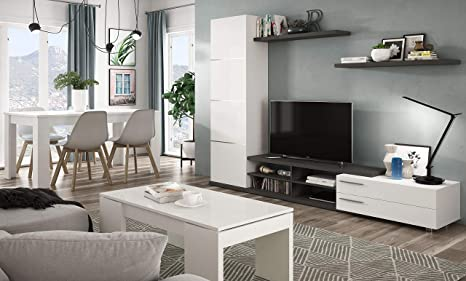 Miroytengo Pack Muebles salón Completo Zadra Color Blanco ...