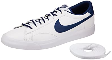 new arrival 4e371 21956 Nike Men s Tennis Classic Ac White, Coastal Blue and Gm Md Brown Tennis  Shoes -