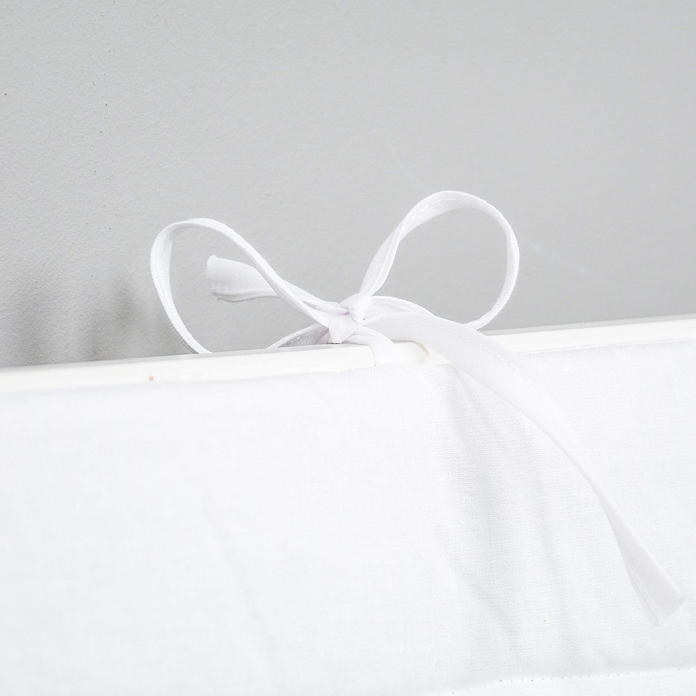 420/x 30/cm blanc 180/x 30/cm . 360/x 30/cm Tour de lit pour b/éb/é avec protection sur les bords et au niveau de la t/ête couleur unie