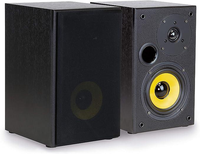 Dynavox Rls 40 Regal Lautsprecher Kompakte 2 Wege Box Für Stereo Anlage Oder Heimkino Abnehmbare Abdeckung Bassreflex Öffnung Paar Schwarz Audio Hifi
