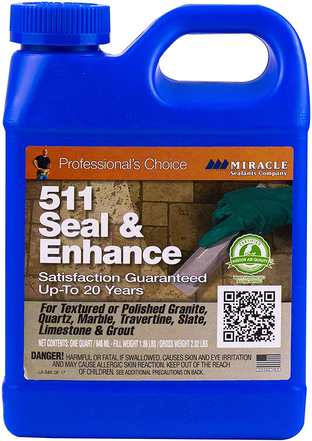 Miracle Sealants SEENQT6 511 Seal & Enhance Color & Gloss Enhancers, Quart