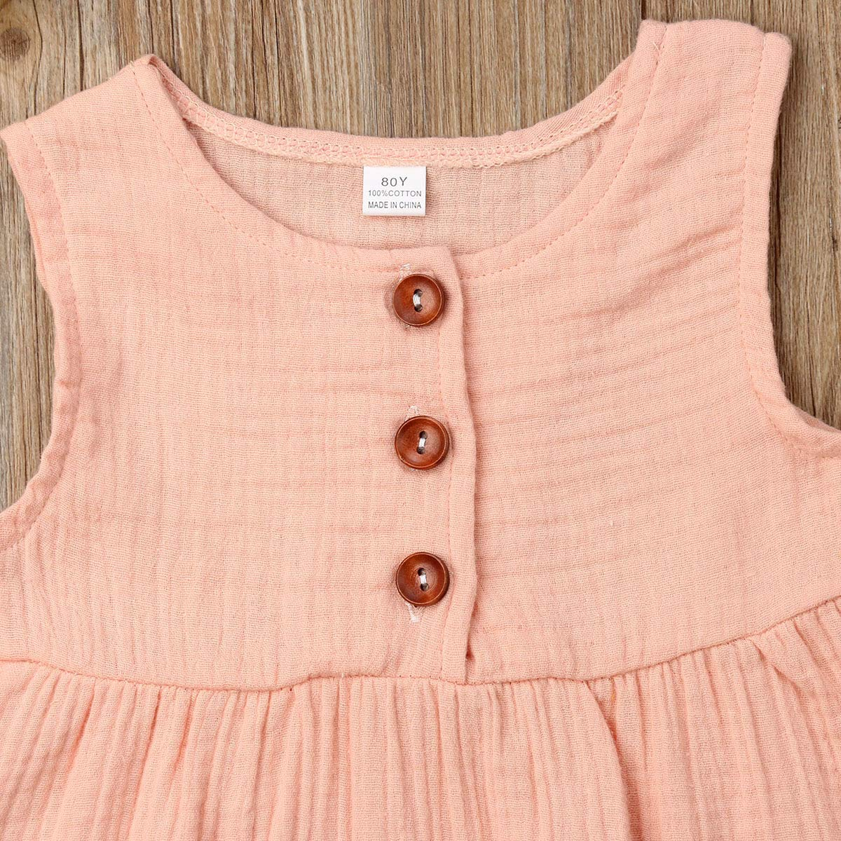 Gogoboi Baby Girl Clothes Solid Color Sleeveless Tank Tops Ruffle Sunsuit Outfit Casual Tees 0-24M