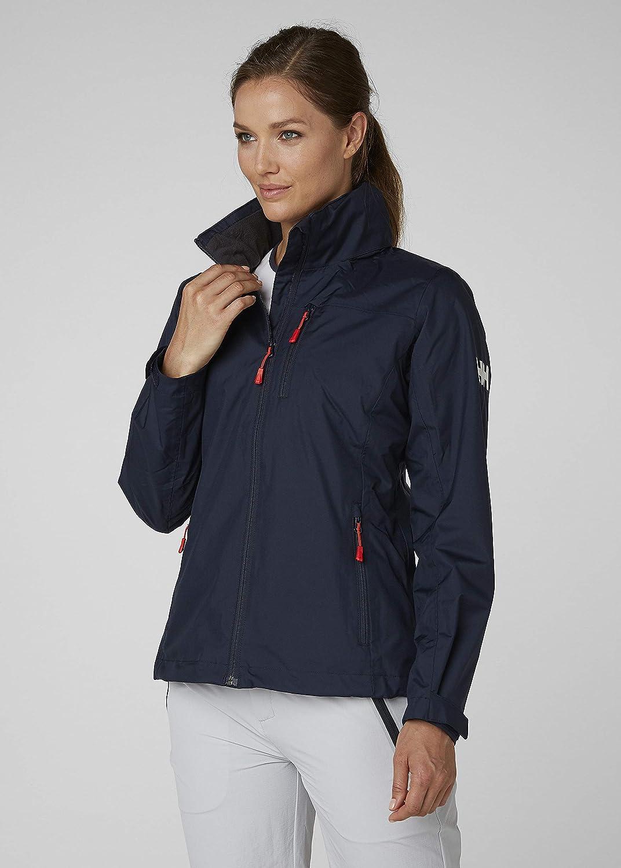 Windproof and Breathable Fabric Waterproof Full-Zip Jacket with Hood and Fleece Lined Collar Helly Hansen Women Crew Hooded Midlayer Waterproof Jacket