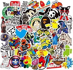 Anime Stickers for Water Bottle Laptop Luggage Hydro Flask Vinyl Stickers 100Pcs Trendy Waterproof Sticker Pack Vsco Stuff Stickers for Teens Kids Boys Girls