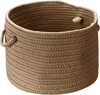 product image for Colonial Mills BR1314 by 14 by 10-Inch Boca Raton Solid Storage Basket, Café Tostado
