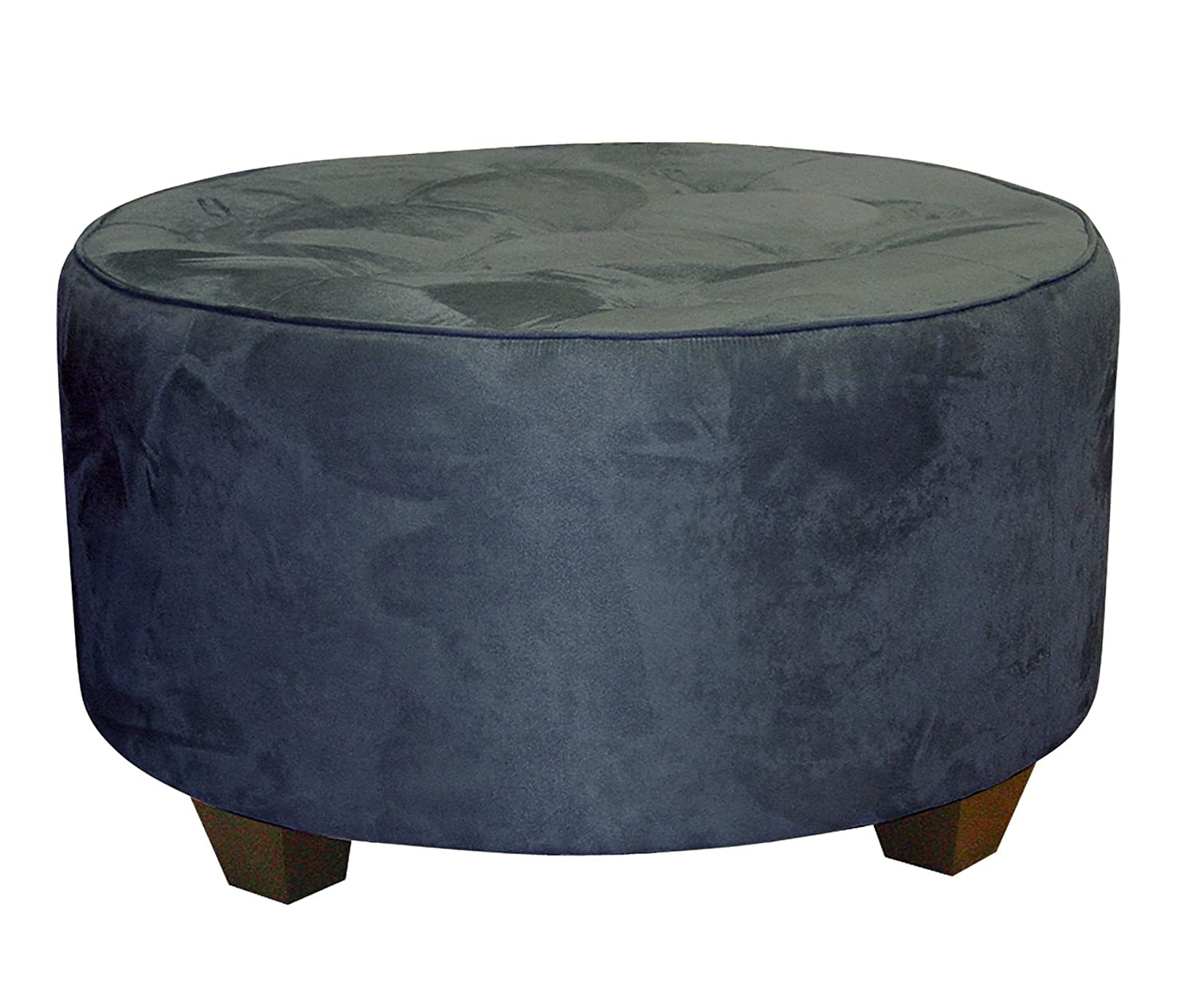 Amazon.com: Clybourn Round Tufted Cocktail Ottoman By Skyline Furniture In  Purple Micro Suede: Kitchen U0026 Dining
