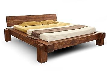 Holzbett massiv 180x200  SAM® Massiv-Holzbett 180x200 cm, Yoga Big, nougat, Sheesham-Holz ...