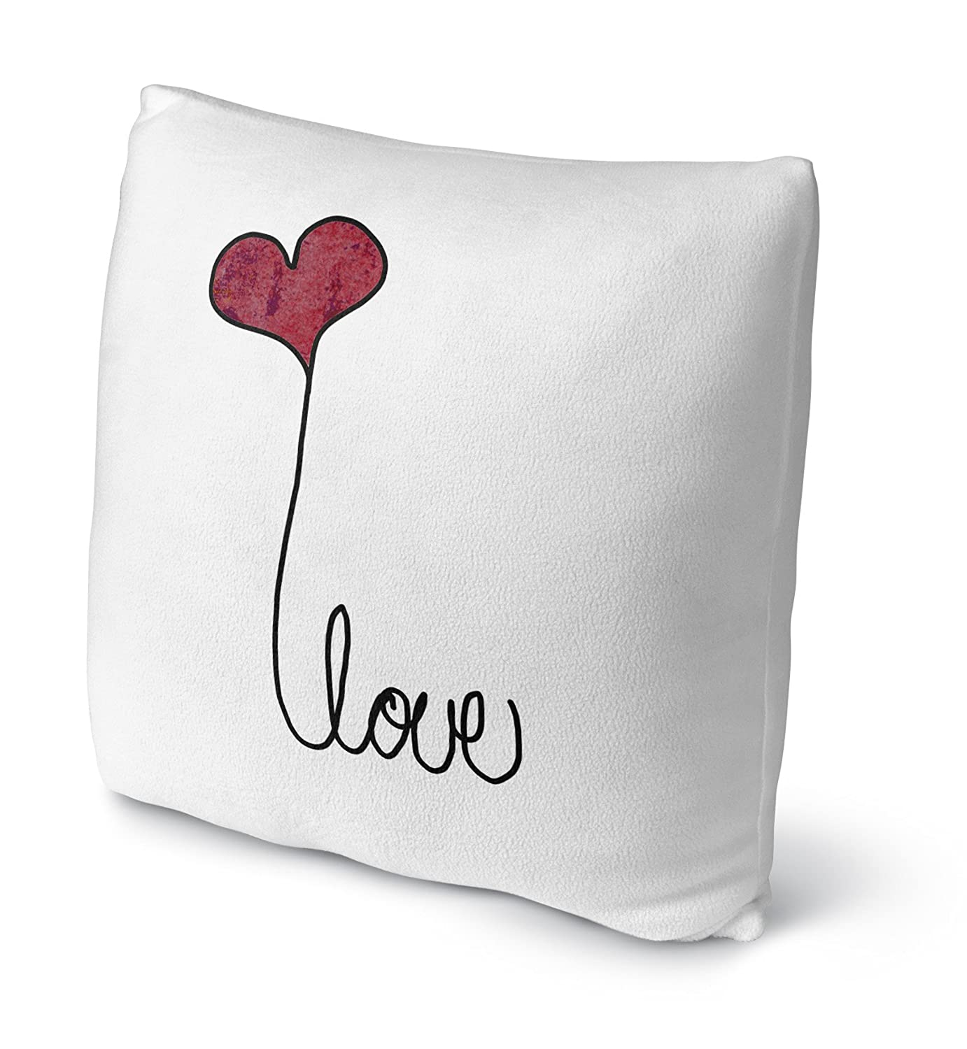 Red//Black Size: 18X18X4 - TELAVC8042FBS18 - Inspo Collection KAVKA Designs Love A Fleece Throw Pillow,