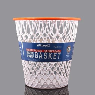Spalding Basketball Net  Crunch Time  NBA Design Spalding Wastebasket White One Size