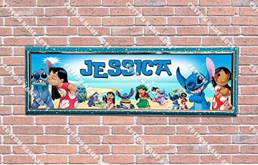 Disney Lilo and Stitch Custom Silk Poster Wall Decor