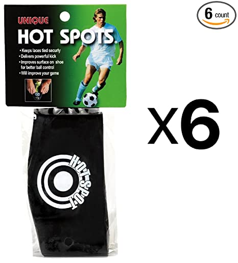 25bef55f09b8 Amazon.com : Unique Sports Soccer Hot Spots Shoe Lace Cover-Ball Sweet Spot  Band (6-Pack) : Sports & Outdoors