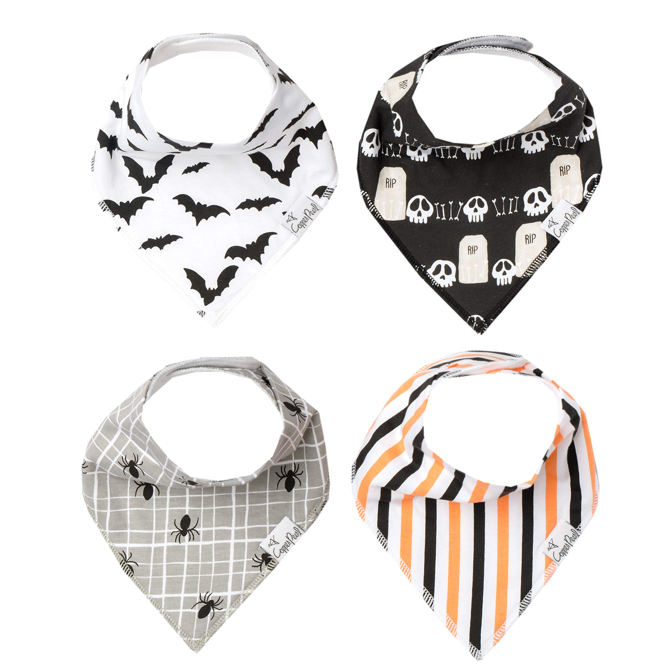 Baby Bandana Drool Bibs for Drooling and Teething 4 Pack Gift Set ''Haunt'' by Copper Pearl by Copper Pearl