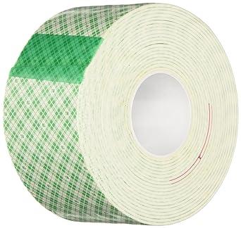 3M 4026 Natural Polyurethane Double Coated Foam Tape, 0 125